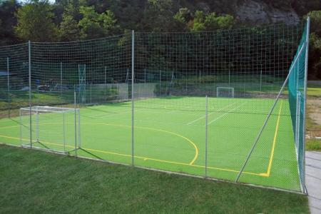 "Fencing ""Five-a-side pitch"" with dissolved mesh"
